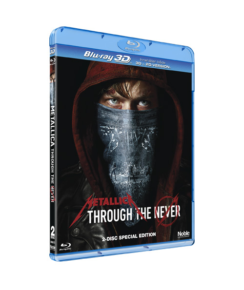 Metallica, through the never, blu-ray, blu ray, dvd, noble entertainment, om filmer, recension, 3d, muisk