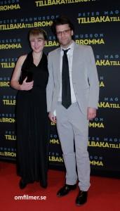 Peter Magnusson med sällskap på galapremiären av Tillbaka till Bromma. Foto: Camilla Käller.