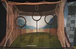 Här kan du prova att kasta Quaffel-boll. Foto: Patrik Laijronsdotter 2014